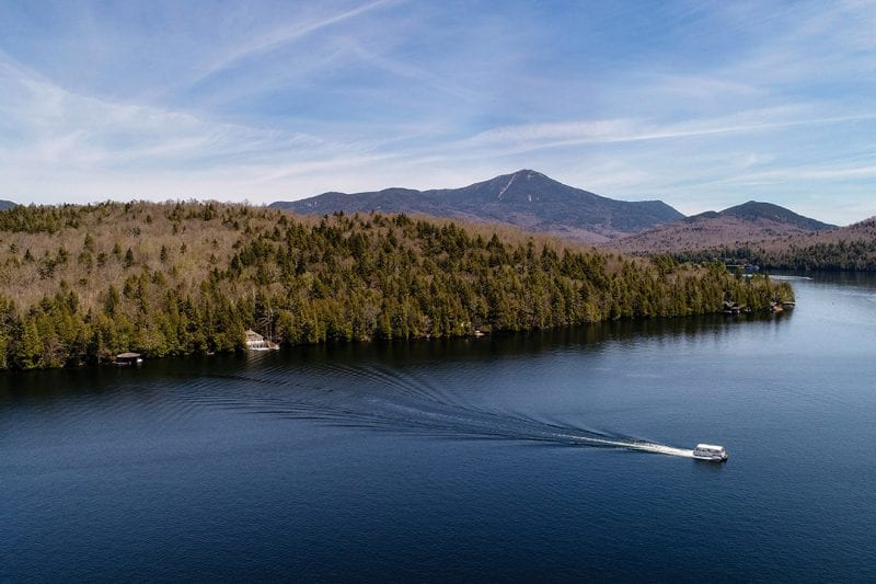 Aerial Of Lake Placid & Whiteface Mountain
