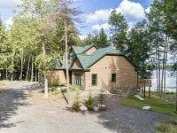 Newly Built Adirondack Home With Oseetah Lake Behind