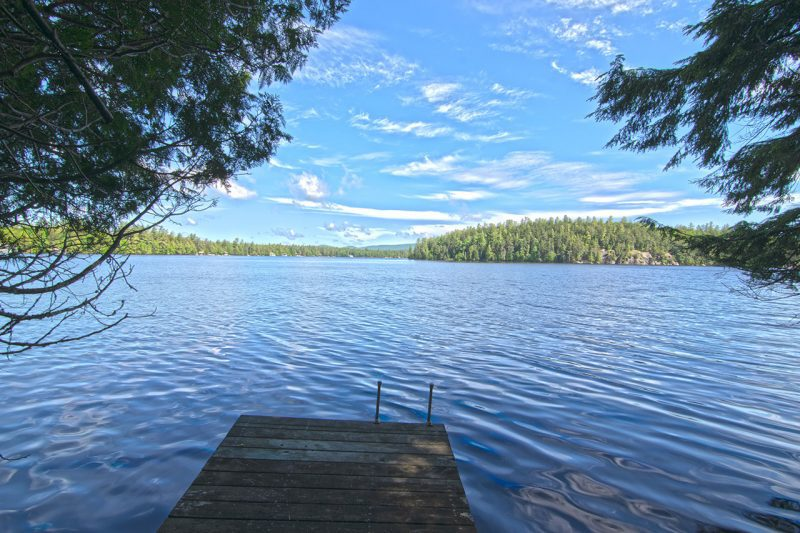 Dock On Upper Saranac Lake During The Summer