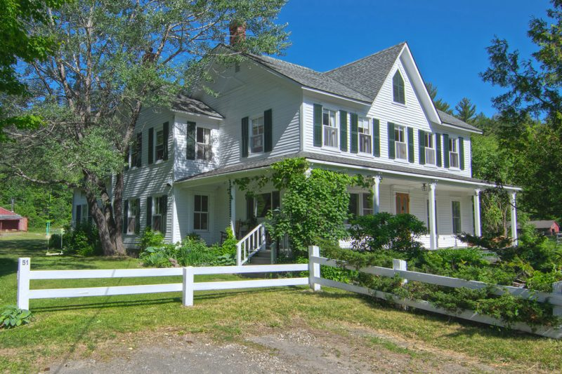 White Farmhouse In Keene Valley