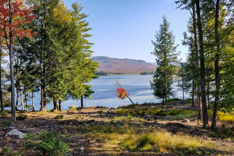Waterfront Lot On Oseetah Lake During The Fall