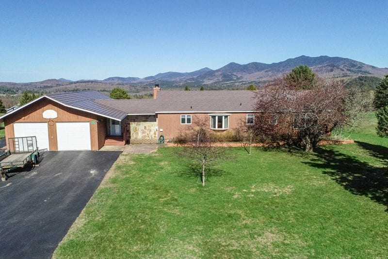 Aerial Of Ranch Near Mount Pisgah With Mountain Views