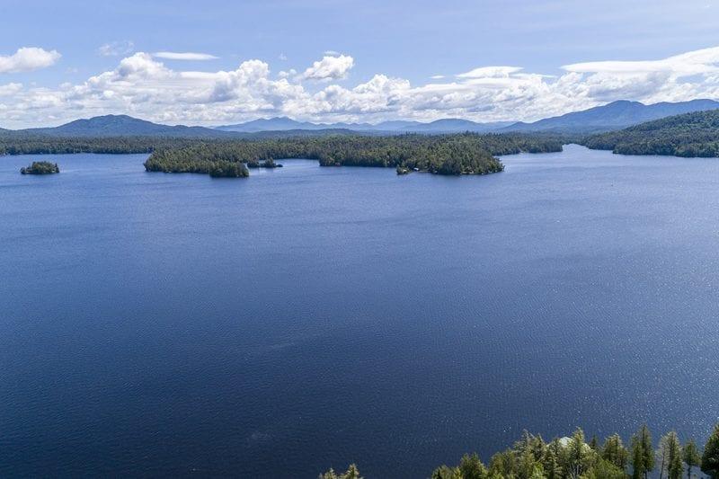 Aerial Of Upper Saranac Lake