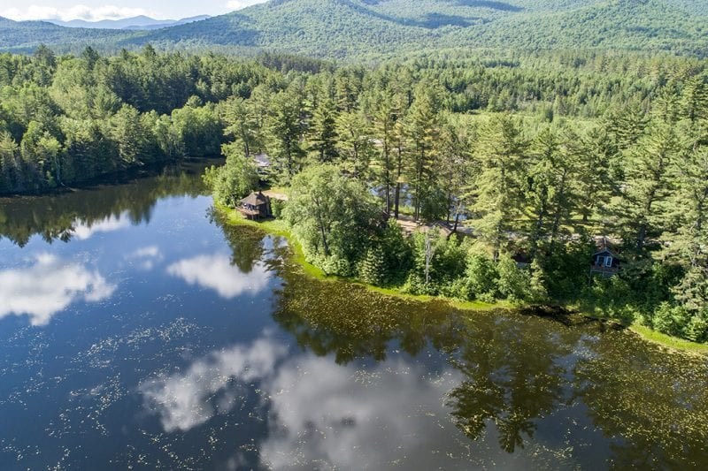 Aerial Of Property From The Pond