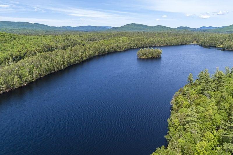 Aerial Of Rainbow Lake