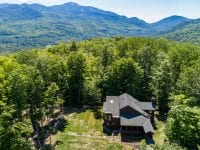 Aerial Of A Mountain Lodge In Keene With Mountain Views
