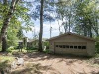 Log Home Exterior Near Moody Pond