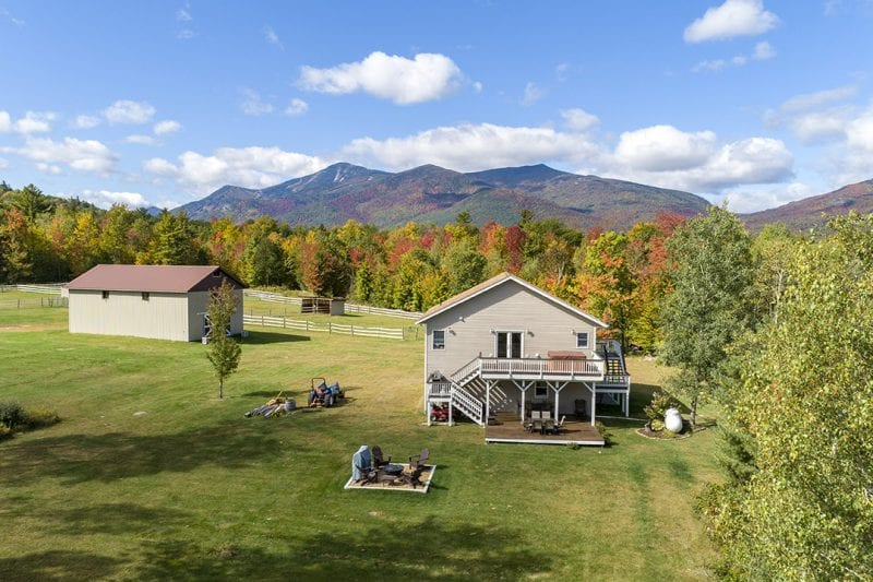 House With Barn And Whiteface Mountain Views
