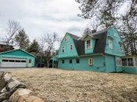 Teal Adirondack Cure Cottage In Saranac Lake