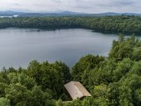 Aerial Of Home On Green Pond