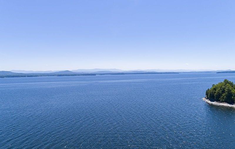 Aerial Lake Champlain