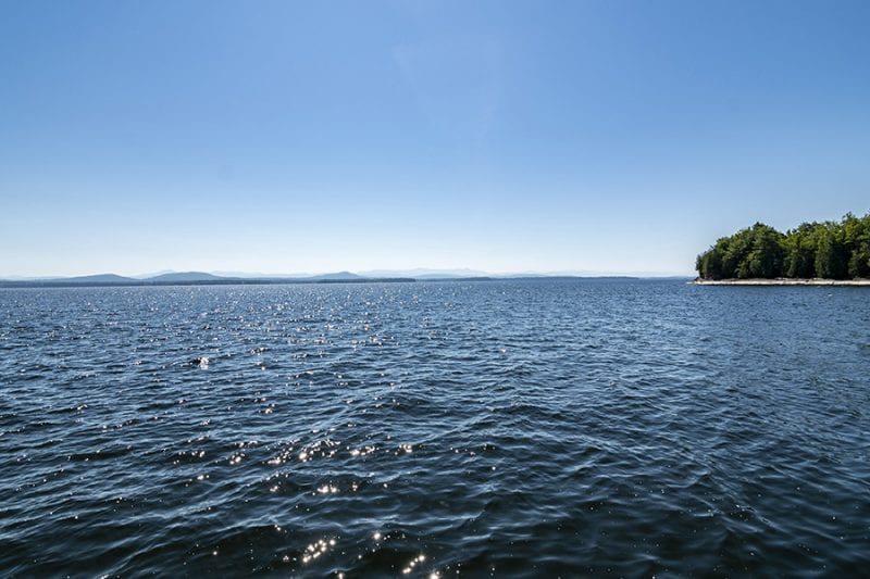 View Of Lake Champlain From The Docks