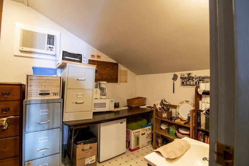 Office Area With Fridge