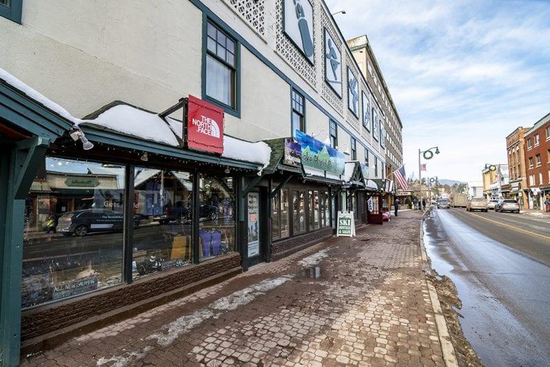 Exterior Of LP Ski & Board Looking Down Main Street