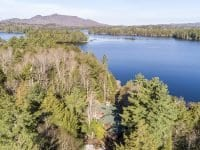 Aerial Of The Property From The Back On Upper St. Regis Lake