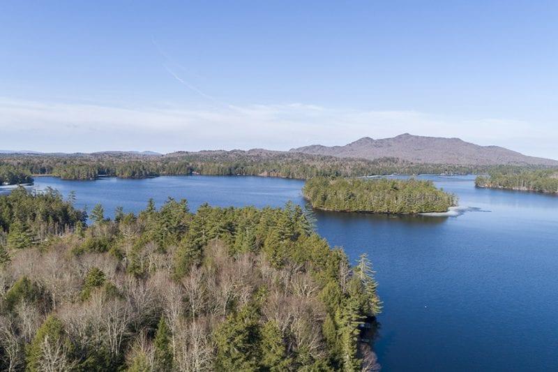 Aerial Of Upper St. Regis Lake