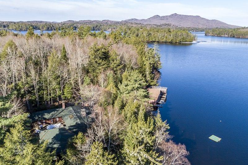 Aerial Of Property Looking Down Upper St. Regis Lake