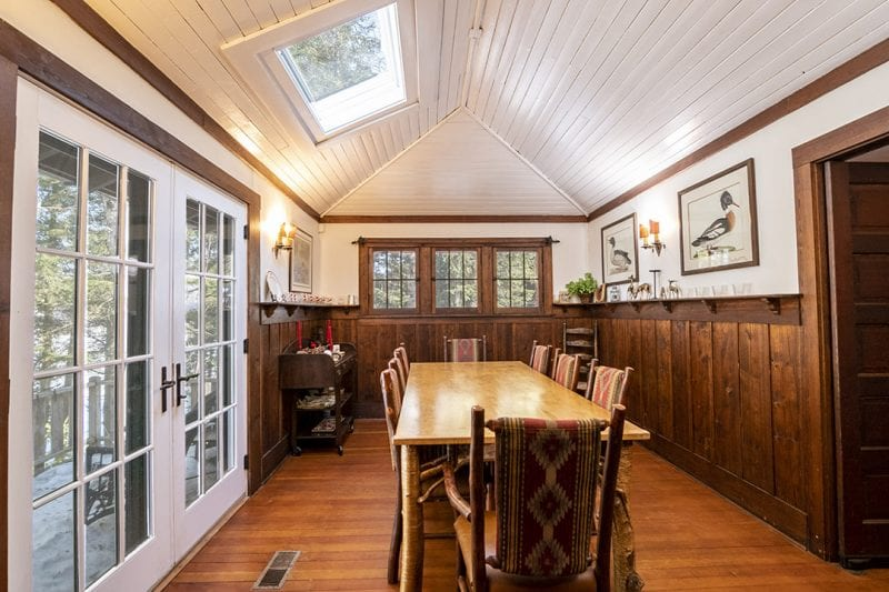 Dining Room With Doors Out To Deck