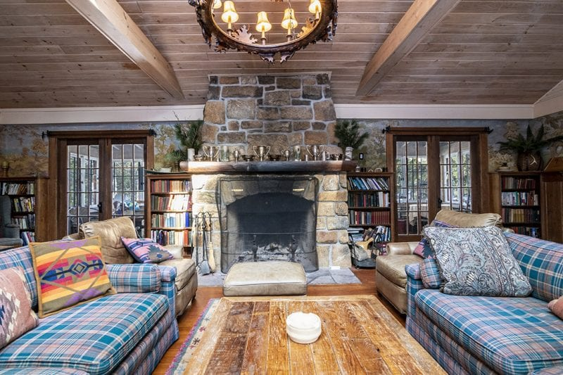 Great Room In Main House Fireplace & Two Couches